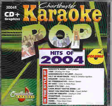 CB30048 CHARTBUSTER CDG POP HITS OF 2004 - Vol.6