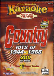 CB8510 CHARTBUSTER CDG PACK COUNTRY Songs From 1944 - 1966