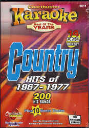 CB8511 CHARTBUSTER CDG PACK COUNTRY Songs From 1967 - 1977