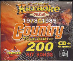 CB8512 CHARTBUSTER CDG PACK COUNTRY Songs From 1978 - 1985