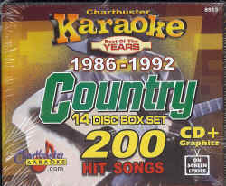 CB8513 CHARTBUSTER CDG PACK COUNTRY Songs From 1986 - 1992