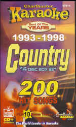 CB8514 CHARTBUSTER CDG PACK COUNTRY Songs From 1993 - 1998