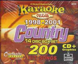 CB8515 CHARTBUSTER CDG PACK COUNTRY Songs From 1998 - 2001