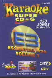 SCDG1003 CHARTBUSTER ESSENTIAL 450 #3 SUPER CD+G