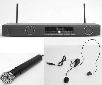 WMS-22 PROFESSIONAL WIRELESS MIC & HEADSET SYSTEM