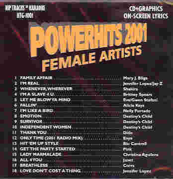 HTG1001 HIP TRACKS Powerhits 2001 - Female Artists