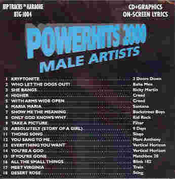 HTG1004 HIP TRACKS Powerhits 2000 - Male Artists
