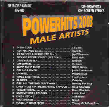 HTG1010 HIP TRACKS  Powerhits2003 - Male Artists
