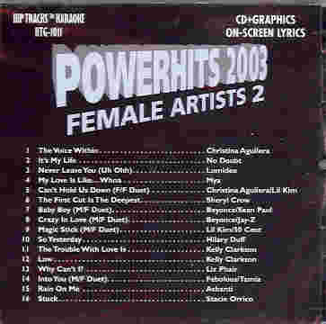 HTG1011 HIP TRACKS POWERHITS 2003 FEMALE ARTISTS #2
