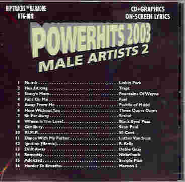 HTG1012 HIP TRACKS POWERHITS 2003 MALE ARTISTS #2