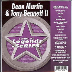 LEG142 LEGENDS CDG DEAN MARTIN / TONY BENNETT VOL.2