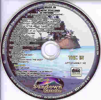 TKC15 SUNDOWN KARAOKE CDG