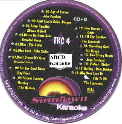 TKC4 SUNDOWN KARAOKE CDG