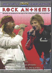 SFDVDRK1 SUNFLY DVD ROCK ANTHEMS VOL.1