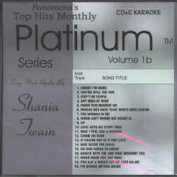 THMPL01B TOP HITS MONTHLY CDG PLATINUM VOL.#01B - Shania Twain