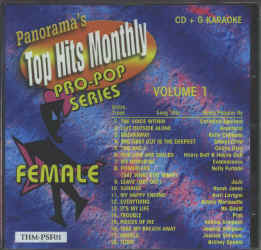 THMPSF01 TOP HITS MONTHLY CDG PRO-POP SERIES FEMALE VOL.#01